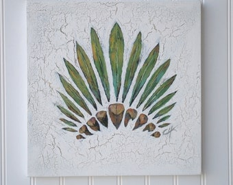 Indian Headress - Original Painting on canvas - Plant Kingdom #10