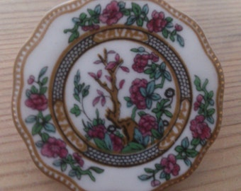 vintage Coalport china brooch