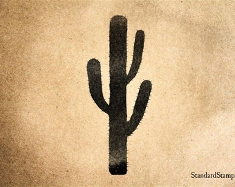 Cacti Rubber Stamp - 2 x 2 inches