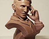 Nikola Tesla bust - sculpture ( Никола Тесла - Бюст ) - Realistic portrait. Serbian - American physicist, engineer and inventor - Steampunk