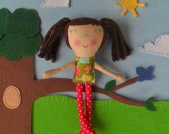 Mini Rag Dolls, Tiny Fabric Dolls, Small Cloth Doll, Pocket Dolls, Eco Friendly Toy