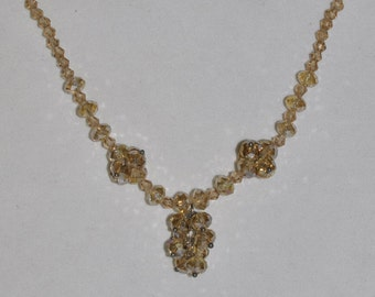 Necklace Iridescent Golden Crystal #474
