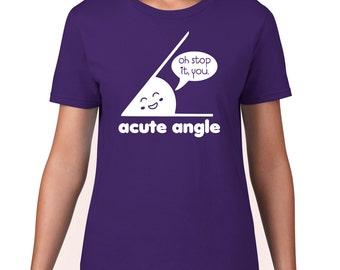 Math TShirt, Acute Angle T Shirt, A Cute Angle Tshirt, Funny TShirt, Geeky Math T Shirt, Math Tee, Geek T shirt, Graphic Tee