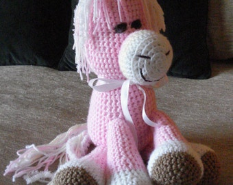 """Crocheted pony horse stuffed animal doll  toy """"Polly"""""""