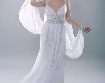 Artemis goddess dress fantasy costume wedding pagan dress magic bellydance wicca high priestess fairytale dress