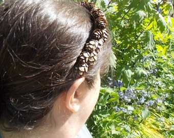 Fir Cone Crown, Woodland Fairy Headband, Evergreen Cone Headband, Brown Fairy Headpiece, Fall Wedding, Pine Cone Garland, Male Fairy F12