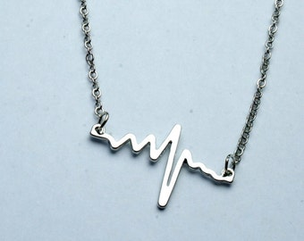 Silver Hearbeat Necklace FREE Shipping!!