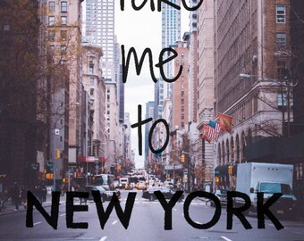 New York Postcard, NYC Print, Quote Postcard, Typography Wall Art, Travel Poster, Inspirational Quote | Typography Postcard