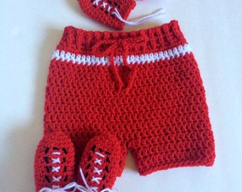 Crochet Baby Boxing Set-Shorts, Gloves, Booties