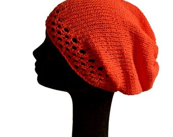 Womens Summer Hat / Cotton Hat / Summer Knit Hat / Gift