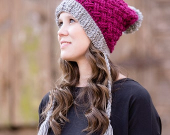 Instant Download-Crochet Pattern- Celtic Weave Mini Slouch