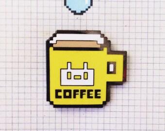 PIXEL COFFEE enamel pinbadge