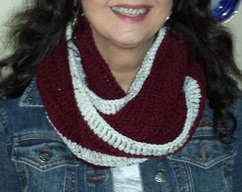 crochet infinity eternity cowl scarf