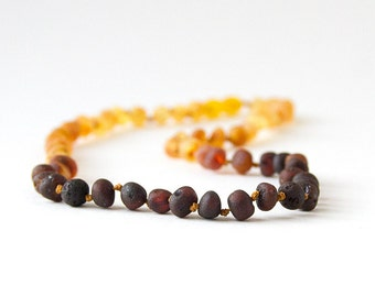 RAW Unpolished Baltic Amber Necklace, Bracelets & Anklets - Light Ombre-colored