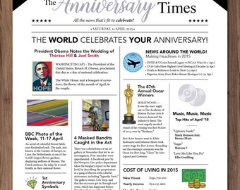 Happy Anniversary Newspaper Valentine's Day Love card