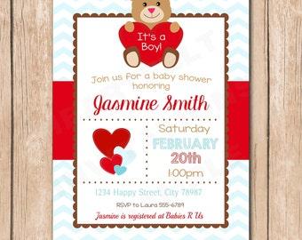 Little Bear Baby Shower Invitation - 1.00 each printed or 10.00 DIY file