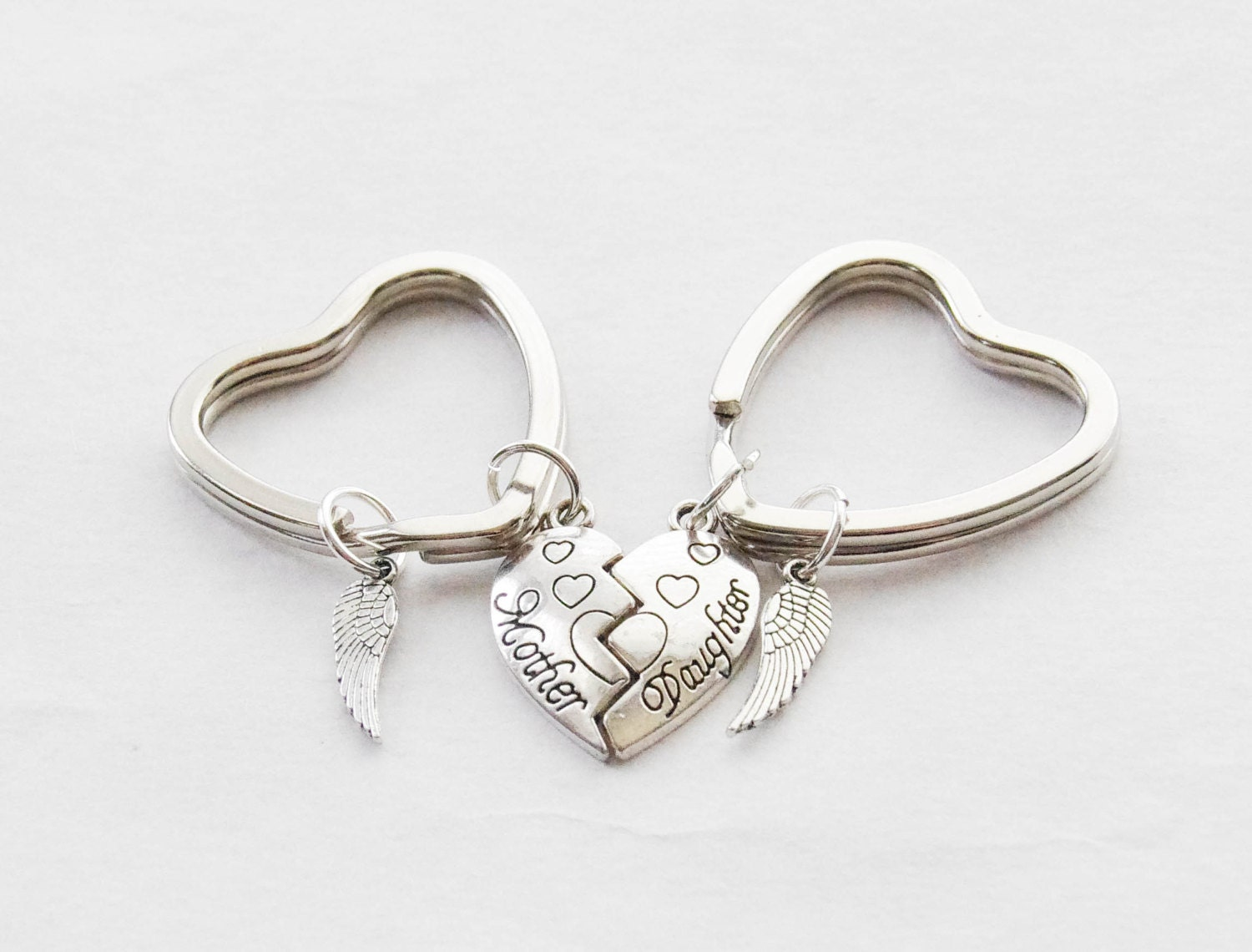 mom daughter gifts matching keychains mother s day gifts 2 heart