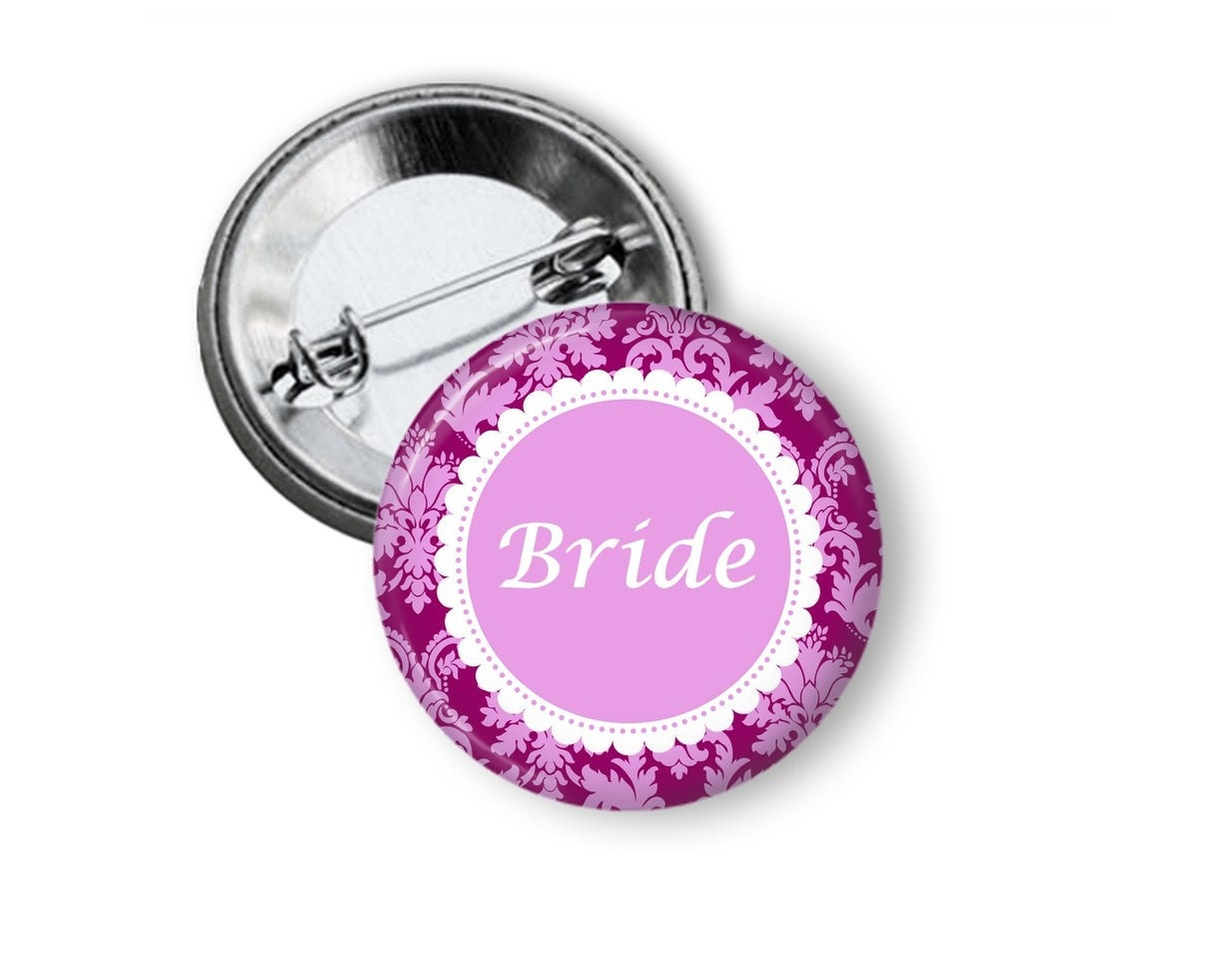 bridal party wedding party button custom wedding button
