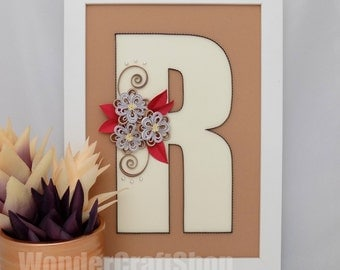 personalized nursery decor, personalized kids gifts, personalized décor, custom letter, custom monogram, personalized wall art, r