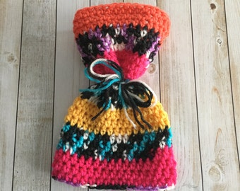 Crochet Newborn Sack Hat - ready to ship