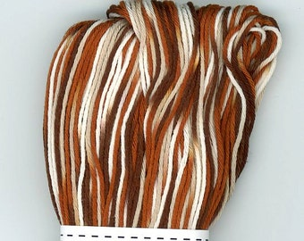 Brown Variegated Large Skein 109yd 100m Brown Tan White Japanese Sashiko Boro Embroidery Thread ST-153