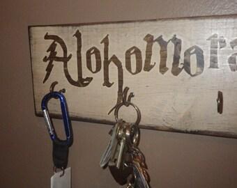 "Harry Potter Home Decor – ""Alohomora"" Key Ring Holder – HP Wall Hanging / Sign –Hermione Granger"