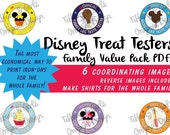 PRINTABLE PDF-Disney World Iron-On unOfficial Disney Treat Tester Images