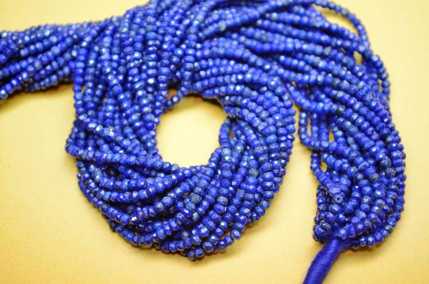 10 strands aaa 13 inch 3mm natural untreated lapis lazuli faceted rondelle beads lapis lazuli. Black Bedroom Furniture Sets. Home Design Ideas