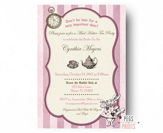 Printable mad hatter bridal shower invitation bridal shower tea il570xn filmwisefo