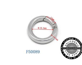Gold Metal Spring O Ring, 18.5 mm Metal O Ring, Spring Ring, (F50089)