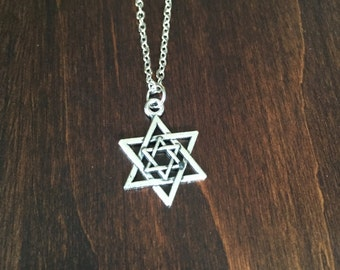 Star of David, Star Necklace, Star of David Necklace, Star of David Pendant, Silver Star of David, Jewish Jewelry, Jewish Necklace