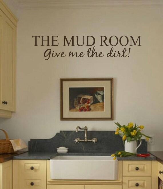 Mud Room Wall Decor : Mud room wall decal art matt vinyl the