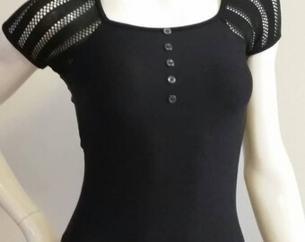 READY to SHIP - item in stock - Black halter style leotard
