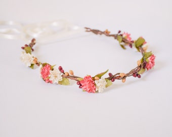 flower crown, floral crown, flower headband, floral headpiece, flower hair piece, floral headband, flower headpiece  - LAURA
