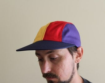 90s Colorblock Strap Snap Hat