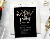 Printable Bachelorette Party Invitation with Bonus Printable Envelope Liner GLIMMER