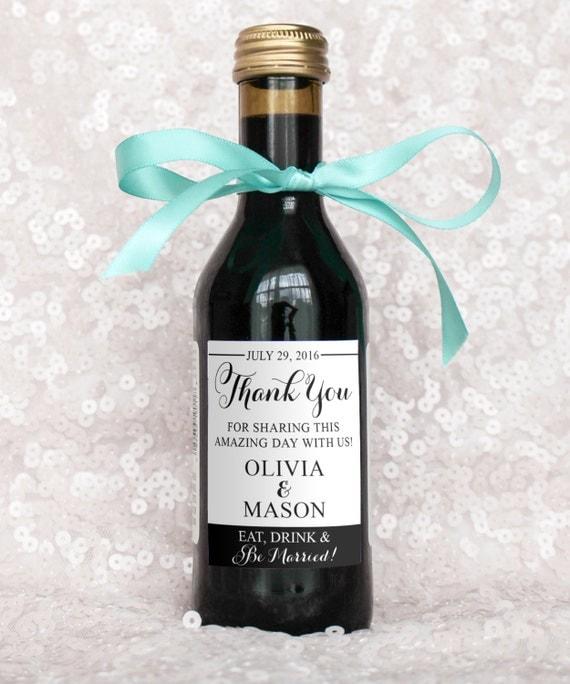 Wedding Wine Bottles: Wedding Favor Mini-Wine Bottle Labels DIY DIGITAL FILE