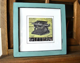 Cool Vintage Look Graphics Print in Hand Painted Frame