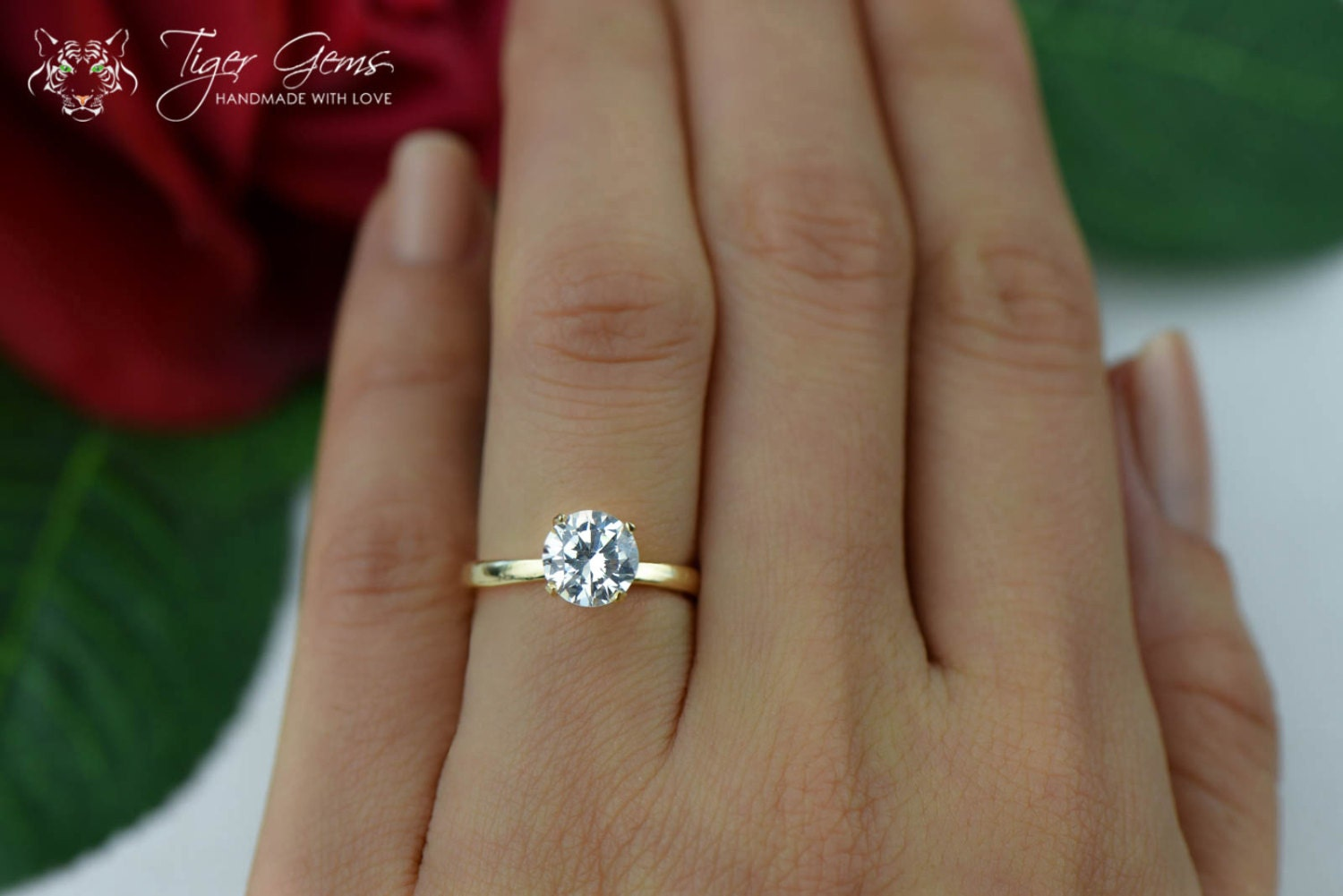1 5 Ct 14k Yellow Gold Ring Classic Solitaire Ring