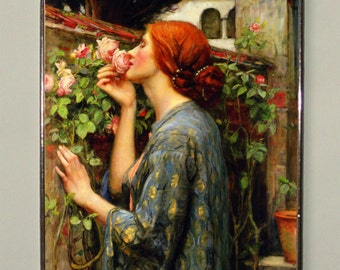 John William Waterhouse - The Soul of the Rose  (1908), Stained glass, Vacation until 18. September