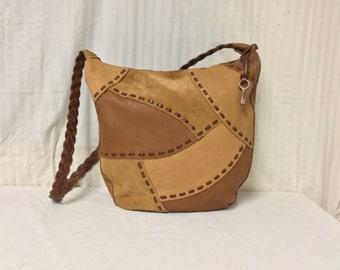 Fossil bag,Hobo Bag, Brown, Leather, Shoulder Bag ,Large,Purse, key Charm
