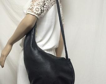 Brio,sling bag, black leather ,shoulder bag, sling