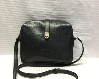 Perozzi Florence,Leather purse,Italian Leather Bag, Made in Italy, Black Leather Purse,bag
