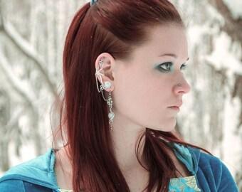 "Set ""Moonlight"" Earrings and ear cuff | moonstone ear cuff, moon earrings, moon jewelry"