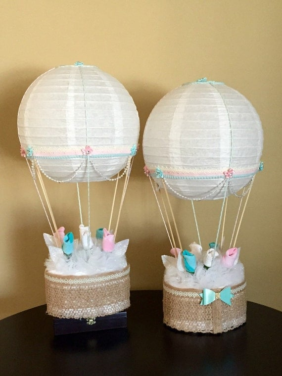 Hot air balloon baby shower table centerpiece nursery décor
