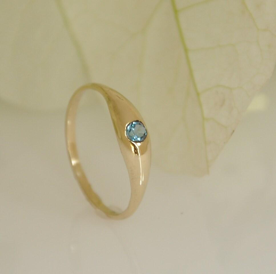 blue topaz ring topaz gold ring unique engagement ring