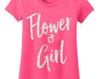 Flower girl shirt | Etsy
