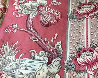 Beautiful Hand Blocked French Linen Fabric