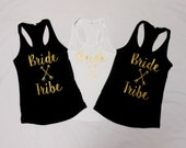 Bride Tribe Tank Tops, Bride Tribe Tank, Bride's squad, Brides Squad Tanks, Bachelorette Party Tank Tops, Purple Pink Blue White Black Red