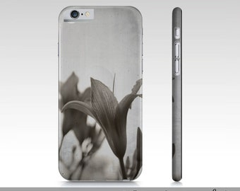Sepia Flower iPhone 6 Case, Classy Sepia Lily Flower iPhone 6 Case, Sepia Floral Case For iPhone 6, iPhone 6 Accessories, Sepia iPhone Case